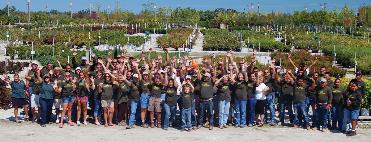 johnson's nursery family owned plant grower wisconsin staff picture